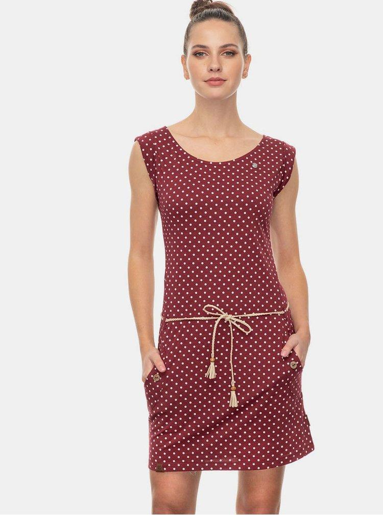 Vínové puntíkované šaty Ragwear Tag Dots