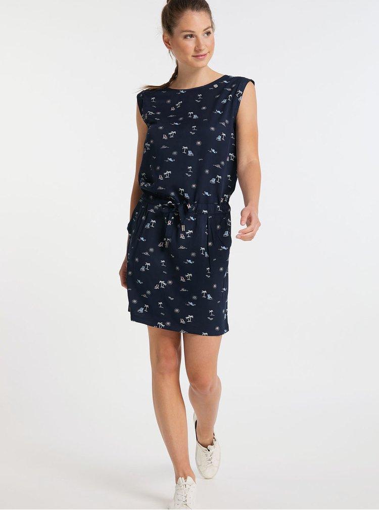 Tmavě modré vzorované šaty Ragwear Mascarpone
