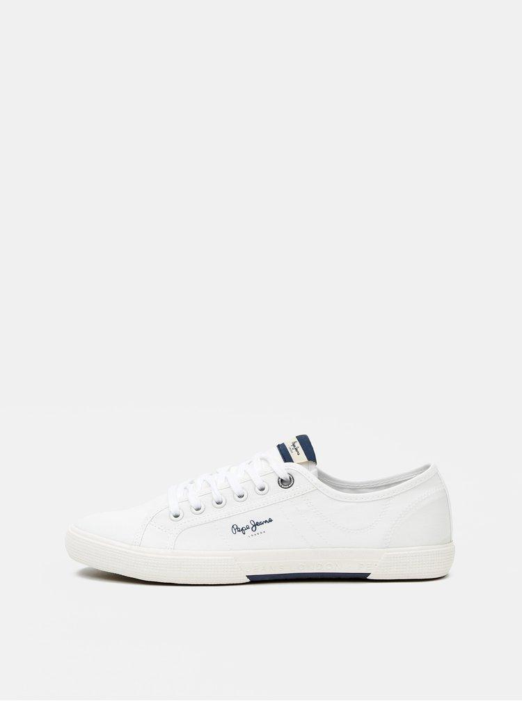 Biele pánske tenisky Pepe Jeans