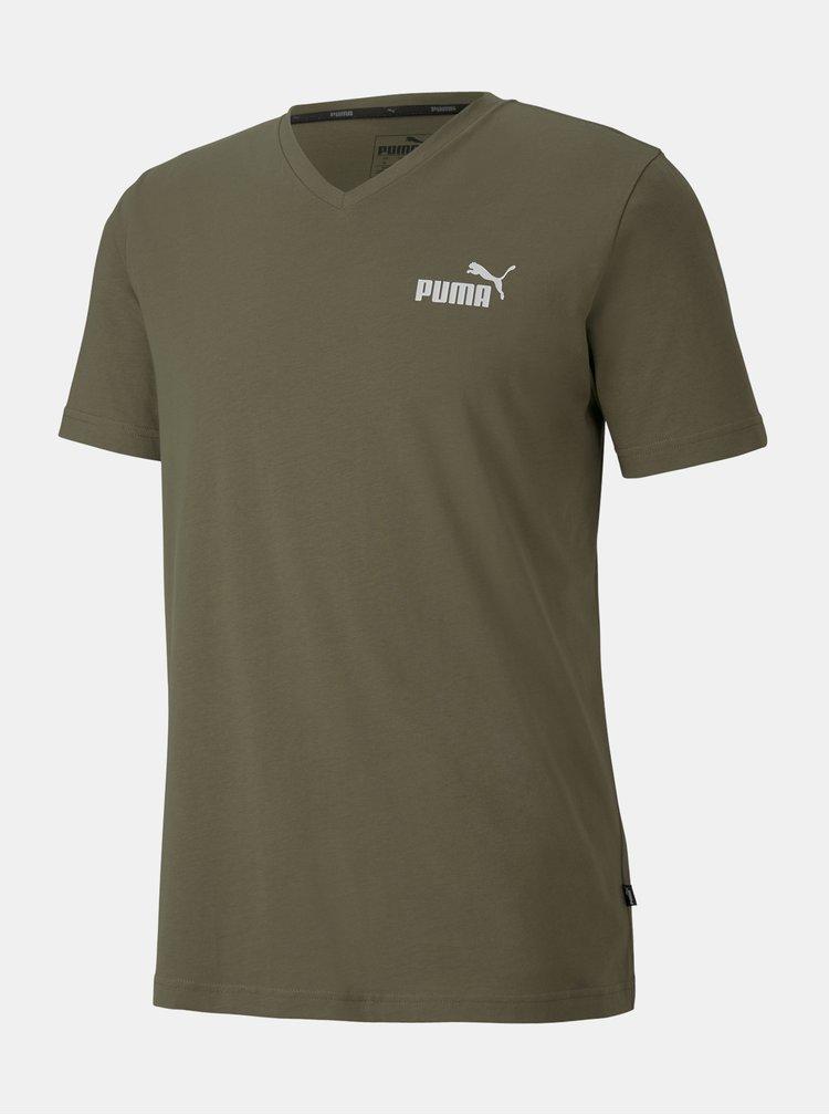 Khaki pánské tričko Puma