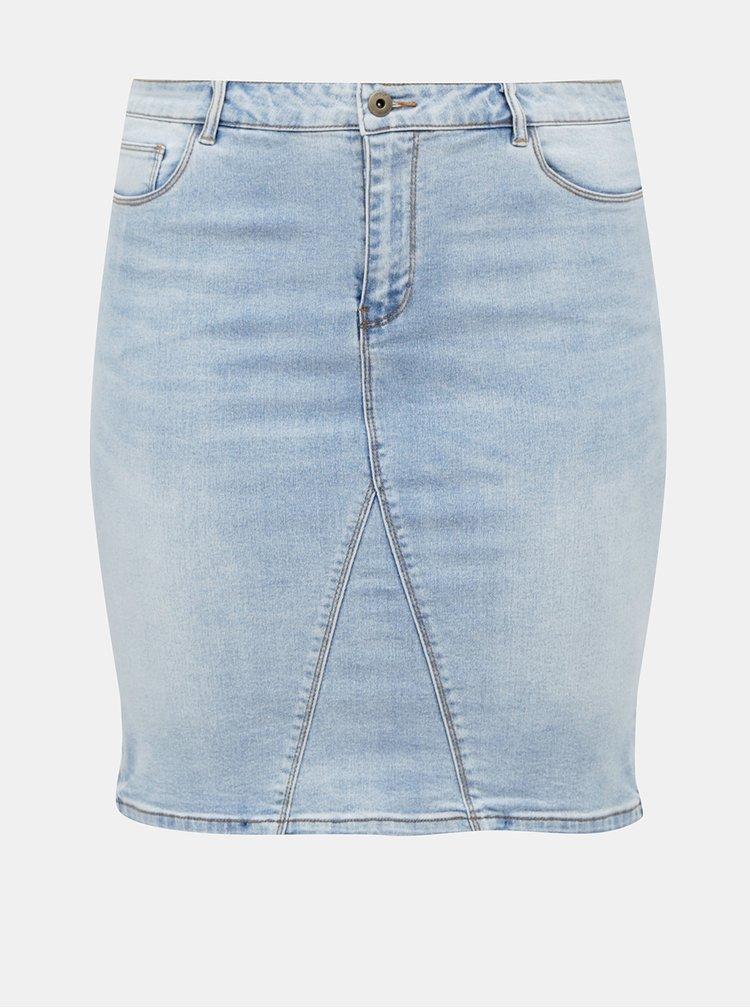 Světle modrá džínová sukně ONLY CARMAKOMA Mila