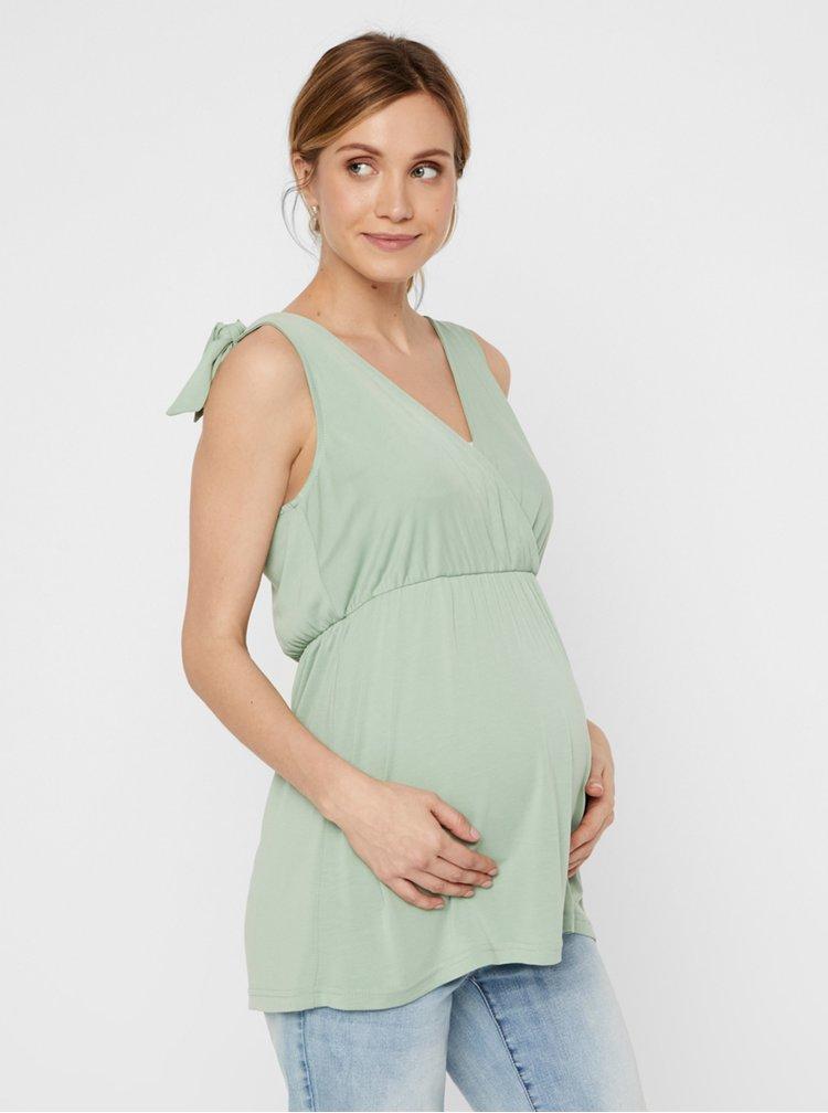Světle zelený těhotenský top Mama.licious Skylar