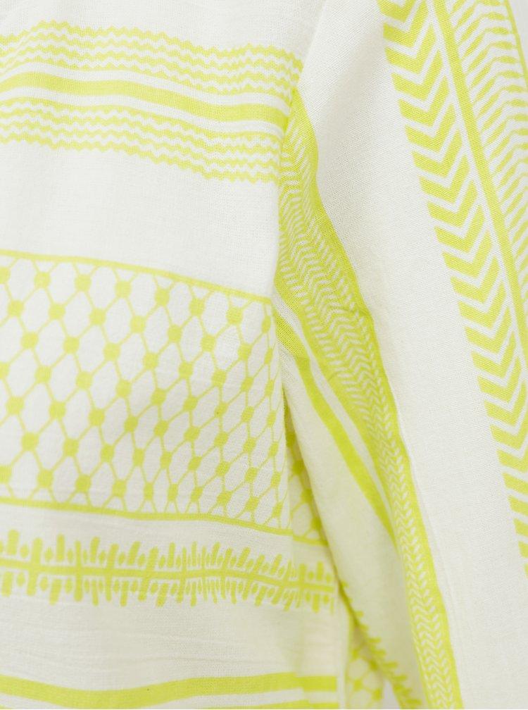 Žluté vzorované volné šaty VERO MODA Ditche