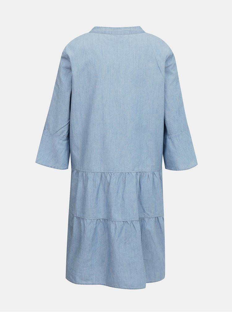 Světle modré volné džínové šaty VERO MODA Carola