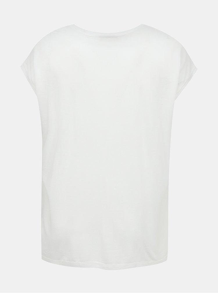 Biele tričko ONLY CARMAKOMA Flake