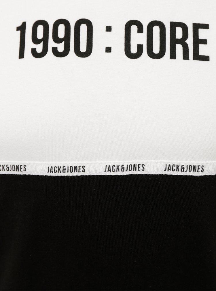 Bílo-černé tričko Jack & Jones Block