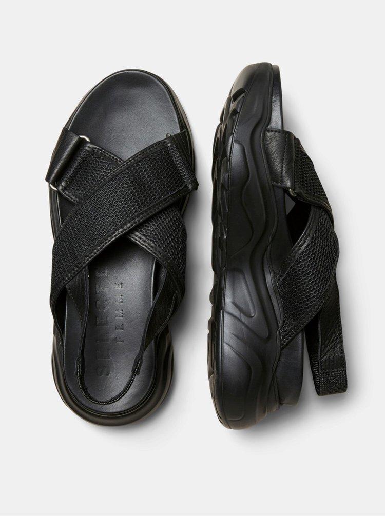 Sandale pentru femei Selected Femme - negru