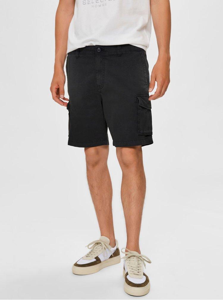 Pantaloni scurti pentru barbati Selected Homme - gri inchis