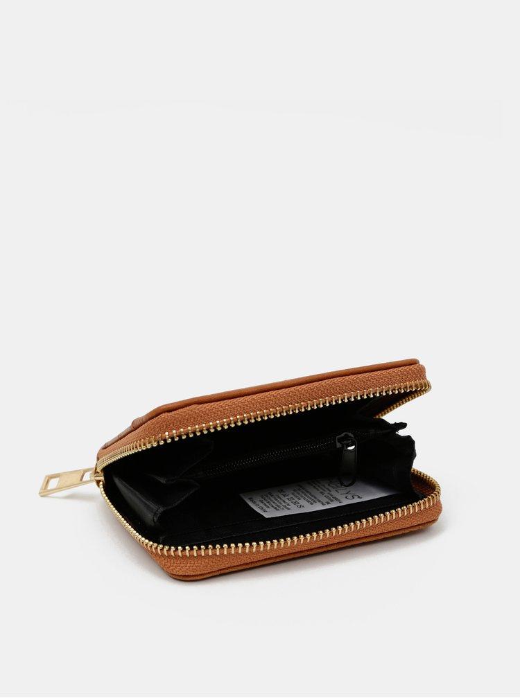 Hnědá peněženka s krokodýlím vzorem Haily´s Olivia