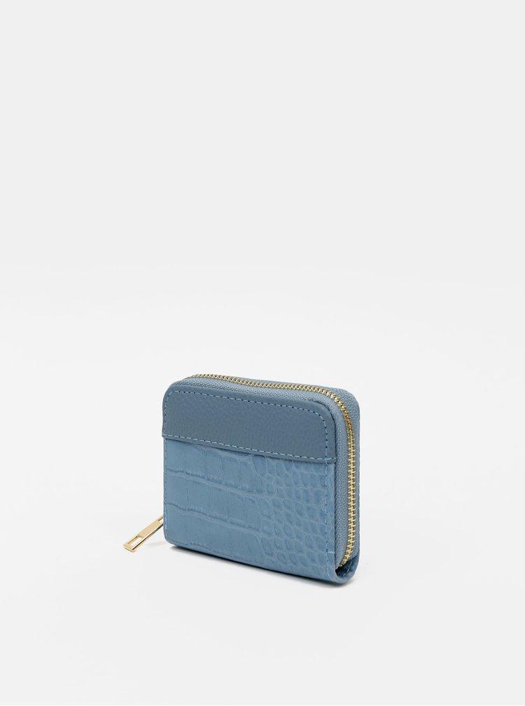 Modrá peněženka s krokodýlím vzorem Haily´s Olivia