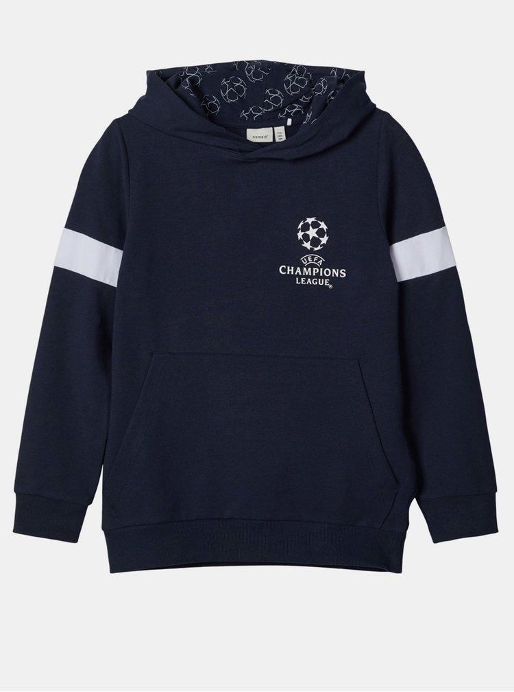 Tmavě modrá klučičí mikina name it UEFA