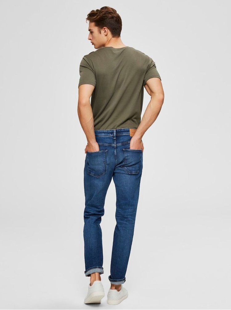 Straight fit pentru barbati Selected Homme - albastru inchis