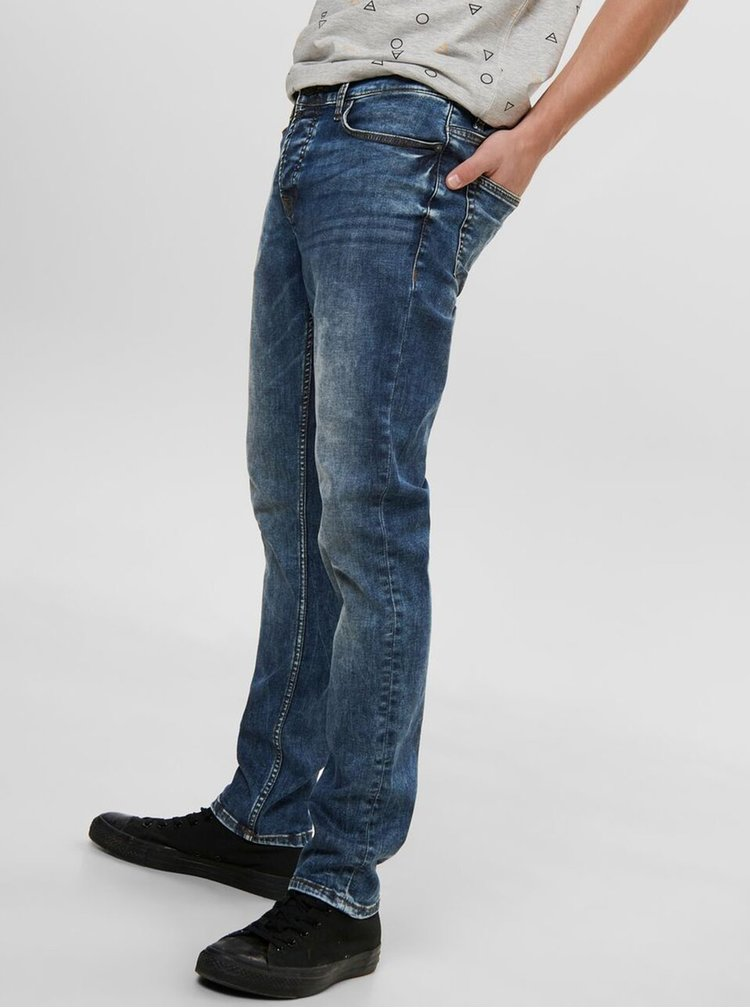 Modré slim fit džíny ONLY & SONS Loom