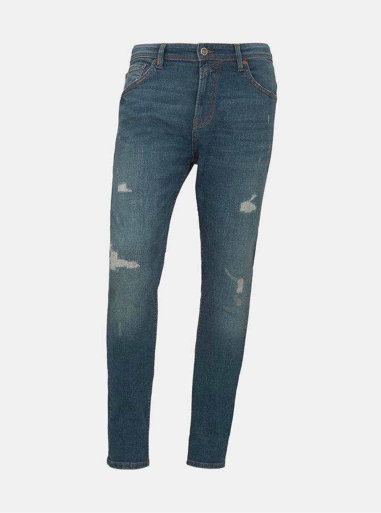 Modré pánské tapered fit džíny Tom Tailor Denim