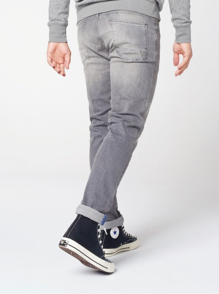 Blugi regular slim fit gri deschis Dstrezzed