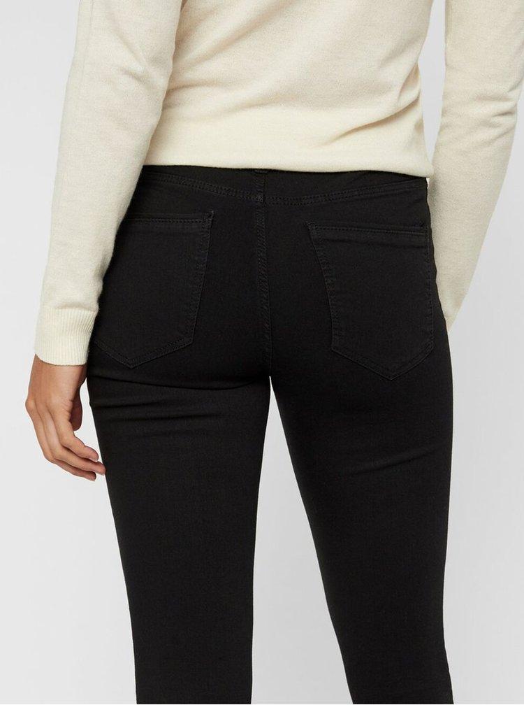 Černé slim fit džíny VERO MODA Tanya