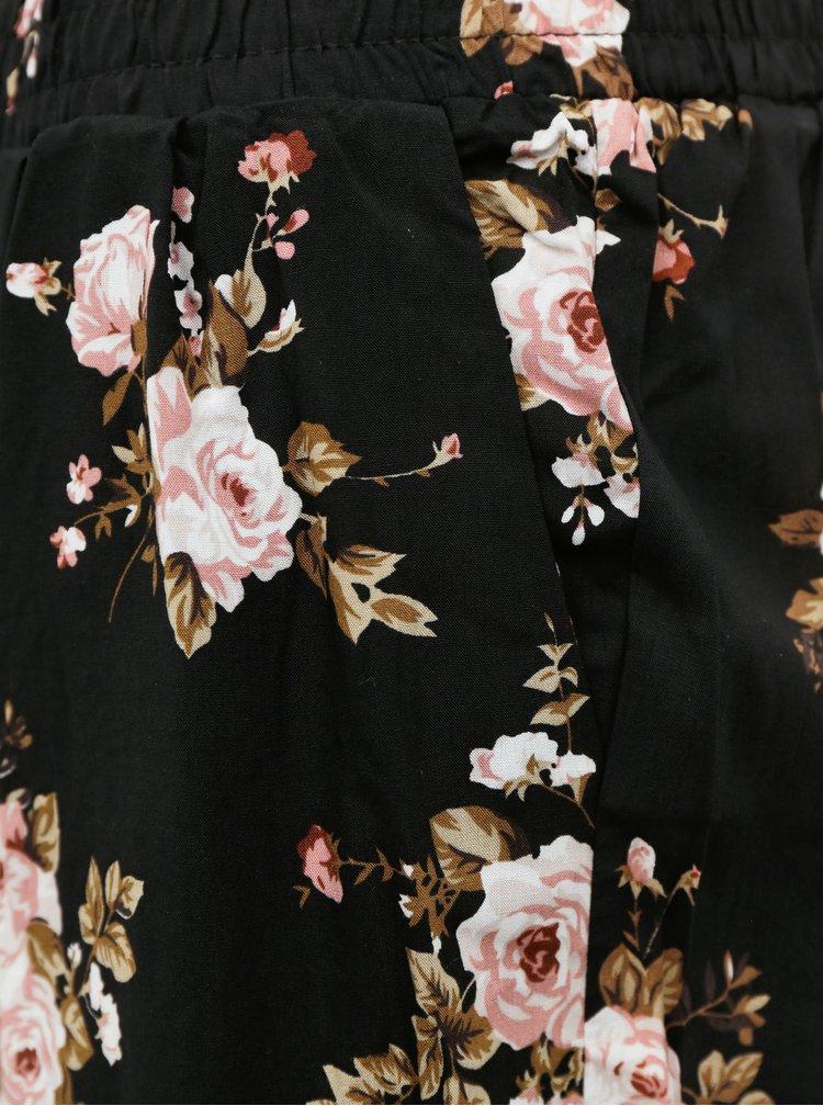 Černé květované kraťasy Haily´s Rachel