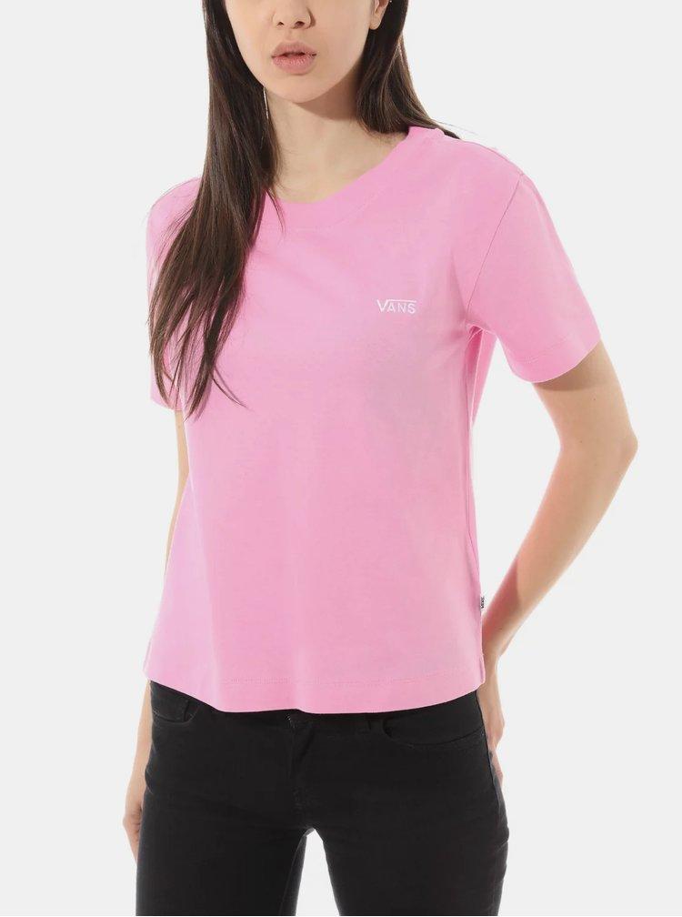 Růžové dámské tričko VANS