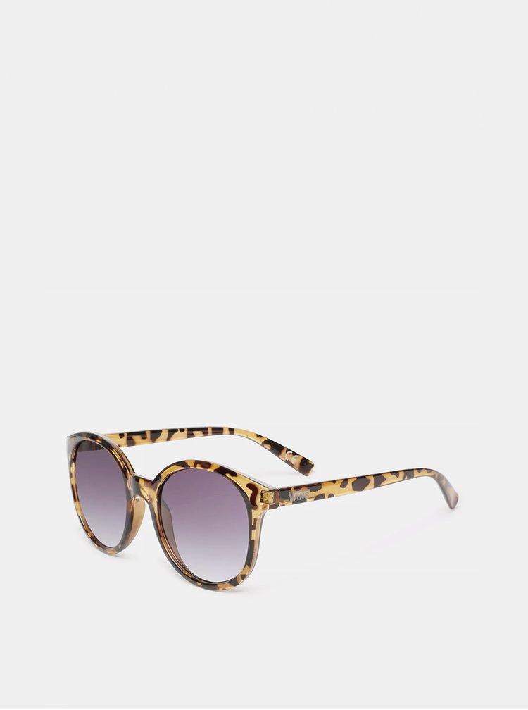 Hnedé dámske vzorované slnečné okuliare VANS