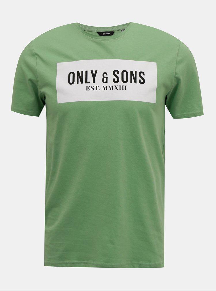 Zelené tričko ONLY & SONS