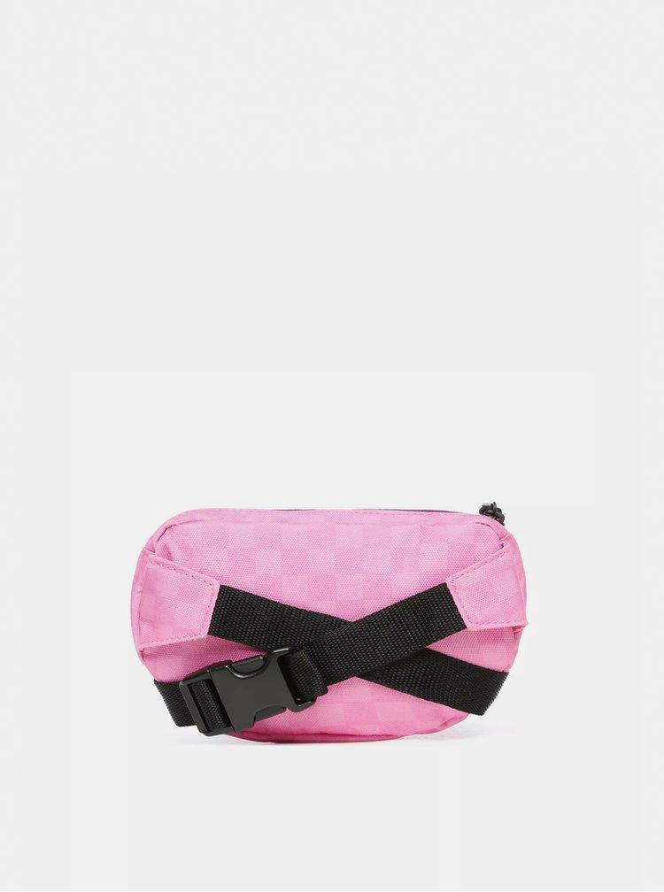 Ružová dámska kockovaná ľadvinka VANS