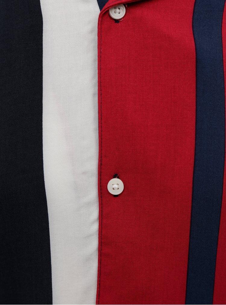 Červená pruhovaná košeľa ONLY & SONS