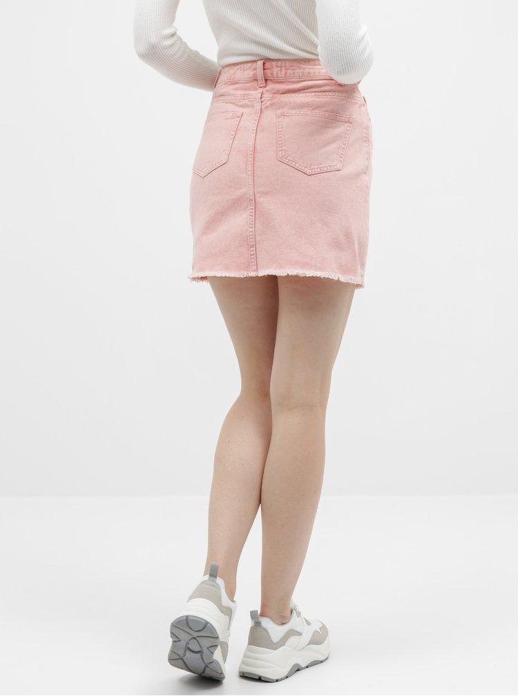 Růžová džínová sukně Jacqueline de Yong Rosa
