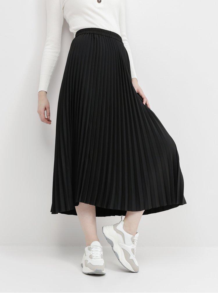 Černá plisovaná maxi sukně Selected Femme Alexis