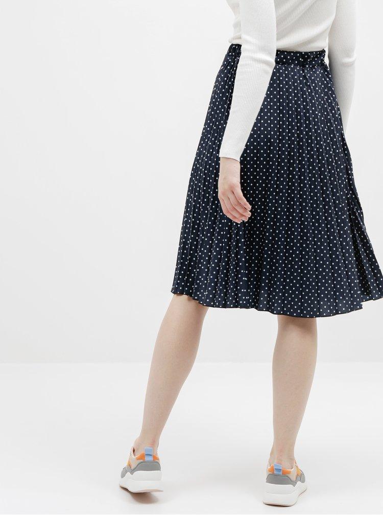 Tmavě modrá puntíkovaná plisovaná sukně Haily´s Leah