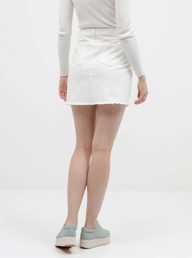 Bílá džínová sukně Jacqueline de Yong Rosa