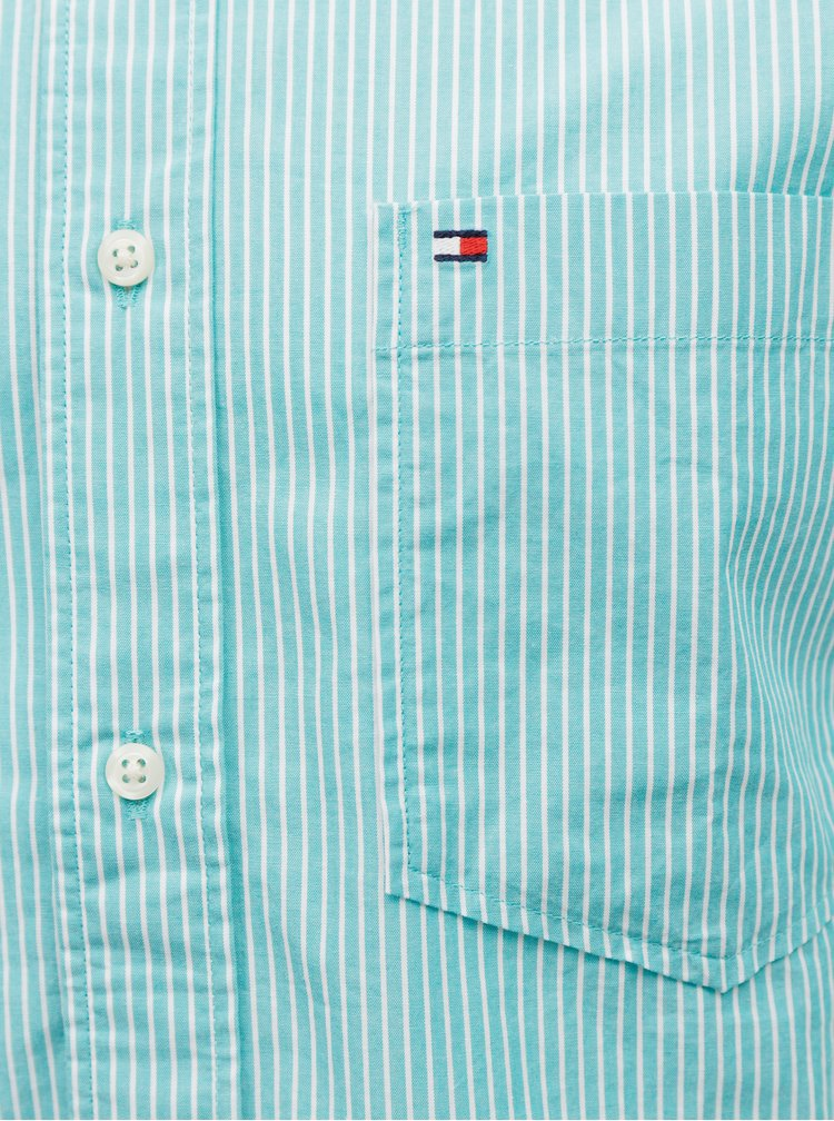 Modrá pánska pruhovaná košeľa Tommy Hilfiger