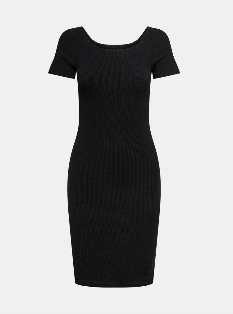 Černé basic šaty ONLY Fiona
