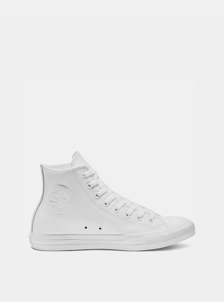 Bílé kožené kotníkové tenisky Converse Chuck Taylor All Star U