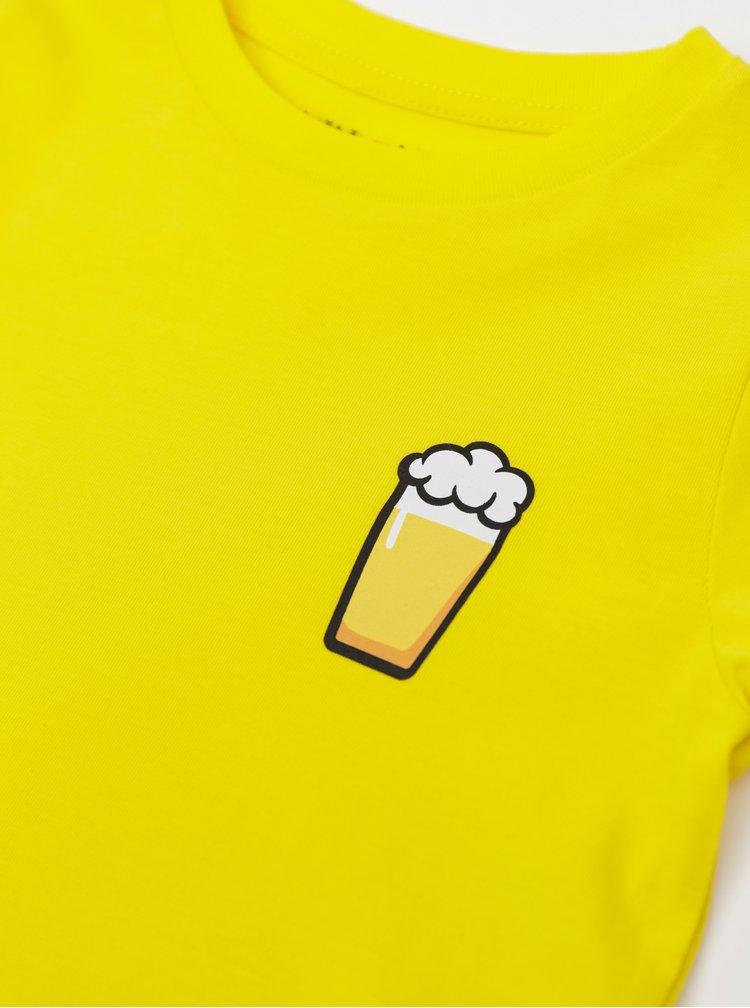Žluté dětské tričko ZOOT Kids Malý pívo