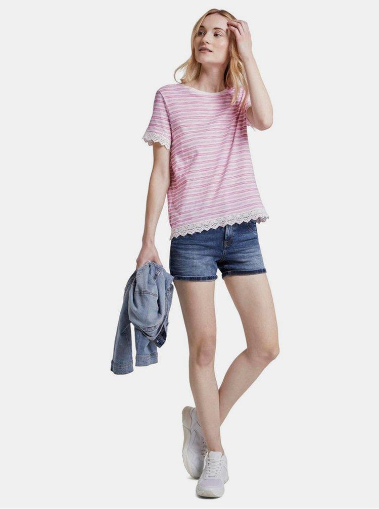 Tricouri pentru femei Tom Tailor Denim - roz