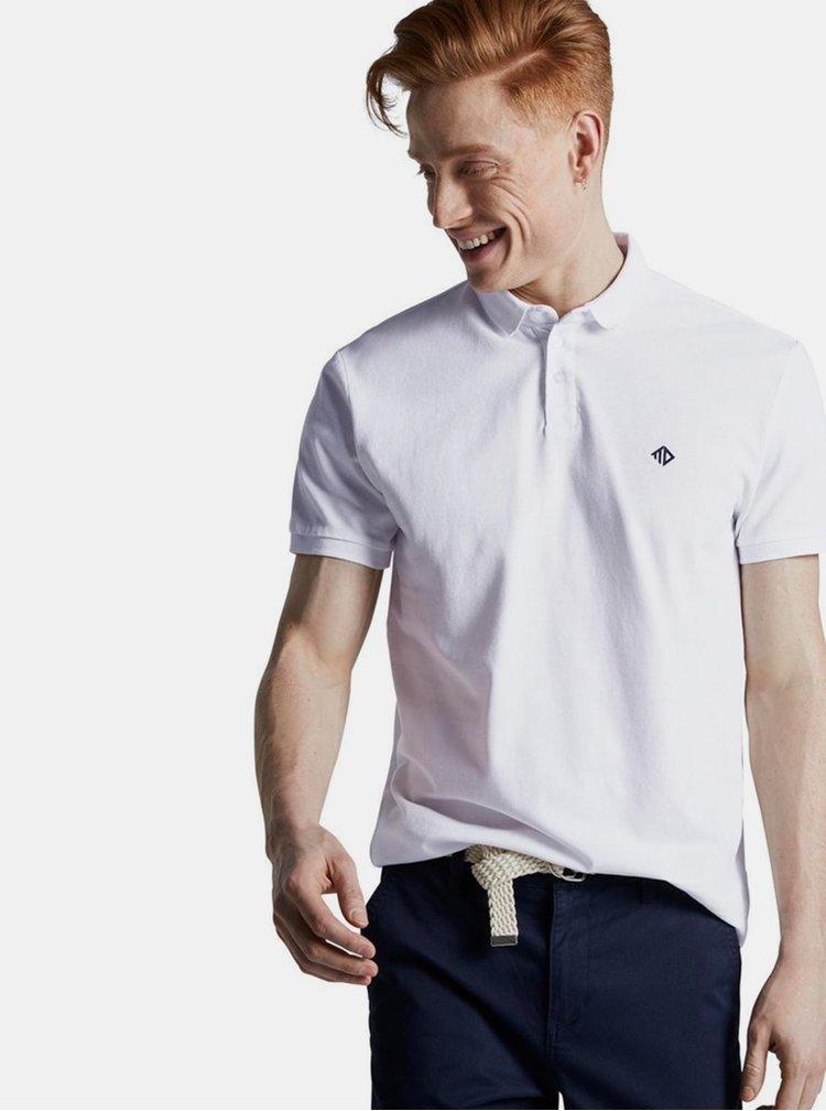 Tricouri polo pentru barbati Tom Tailor Denim - alb