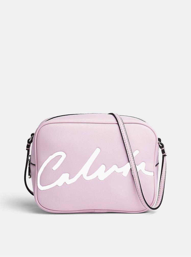 Růžová crossbody taška Calvin Klein Jeans