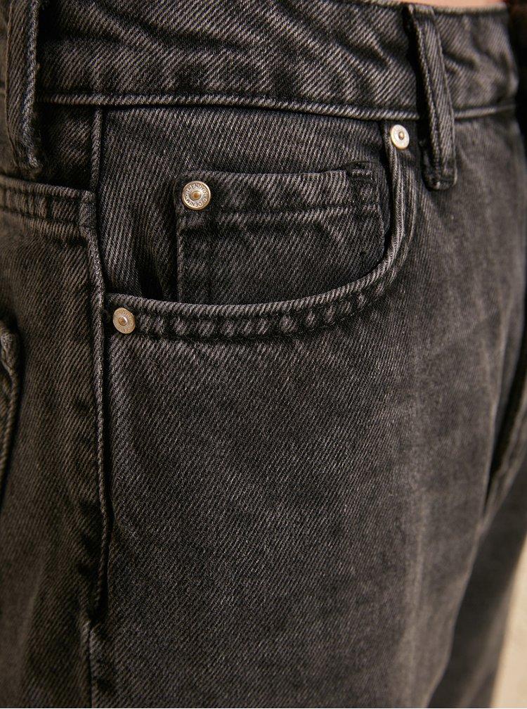 Tmavě šedé straight fit džíny Trendyol