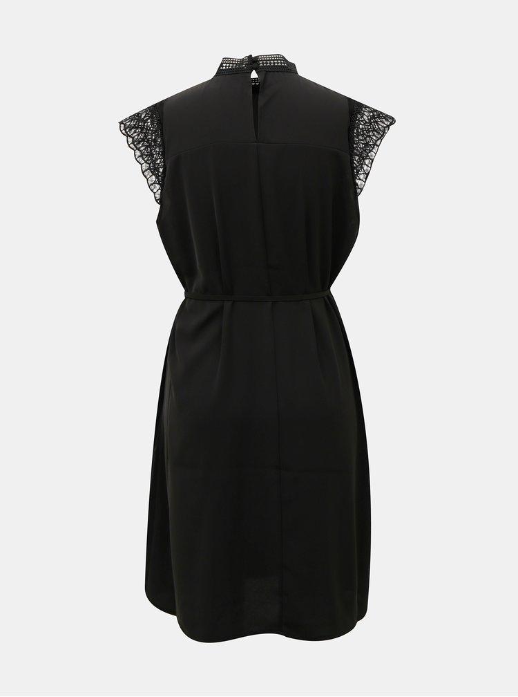 Černé šaty s krajkou VERO MODA Povla