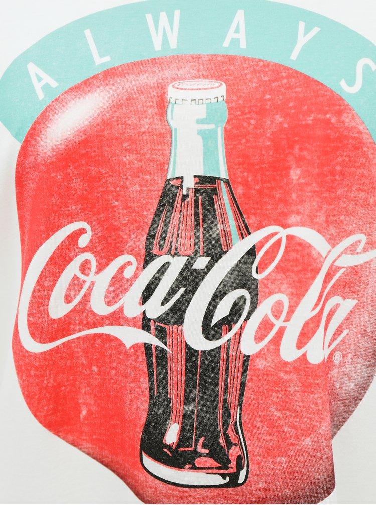 Bílé tričko s potiskem Jacqueline de Yong Coca Cola