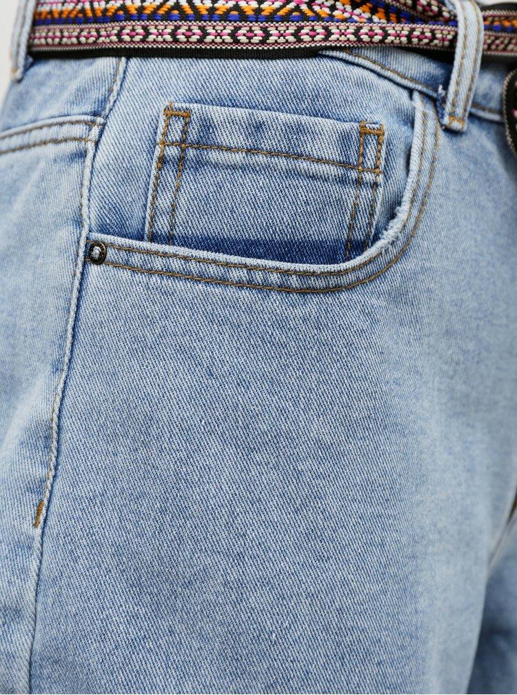 Světle modré džínové kraťasy s páskem Jacqueline de Yong Game
