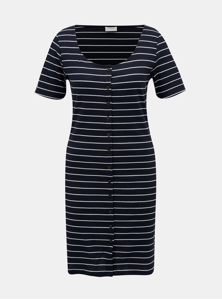 Tmavě modré pruhované šaty Jacqueline de Yong Nevada