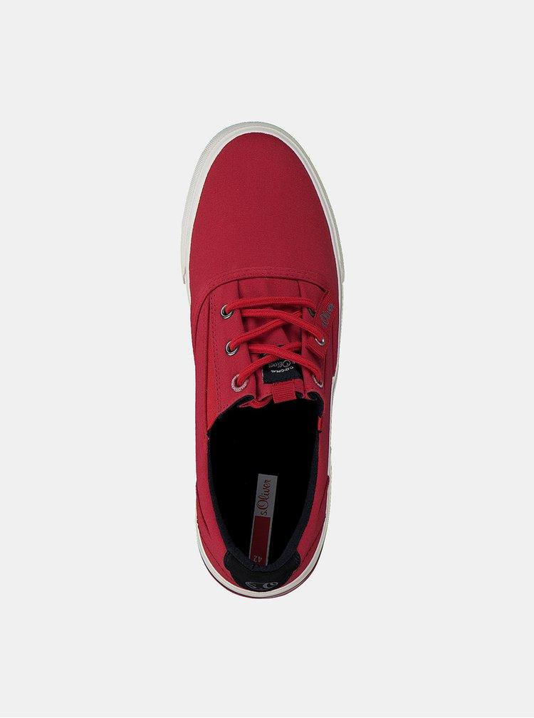 Červené pánské tenisky s.Oliver
