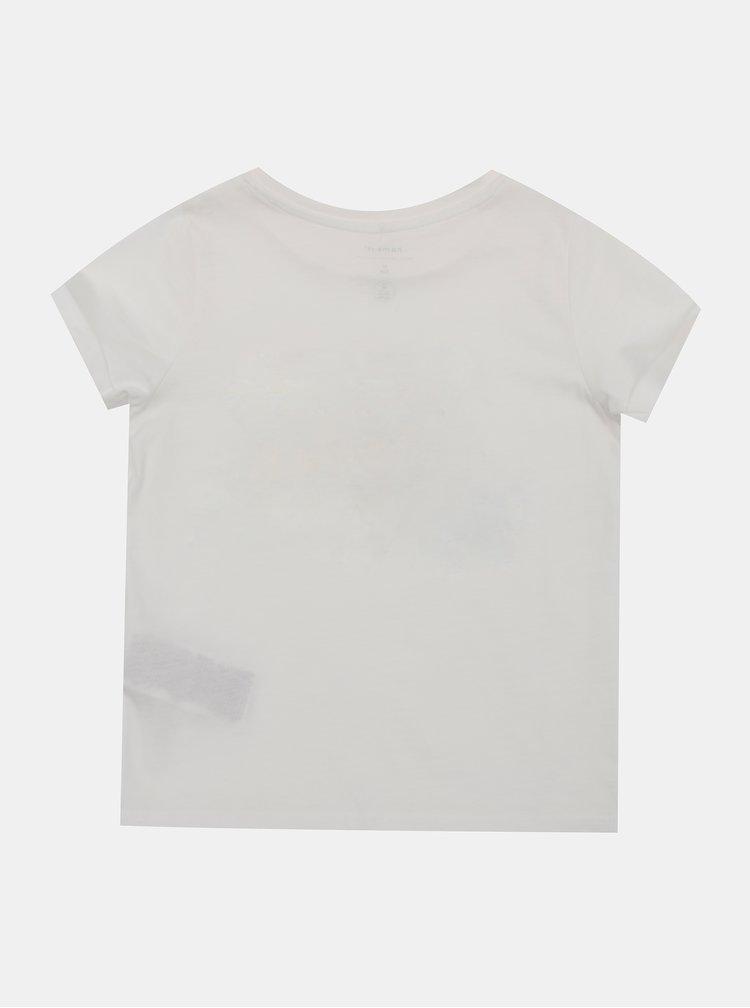 Bílé holčičí tričko name it