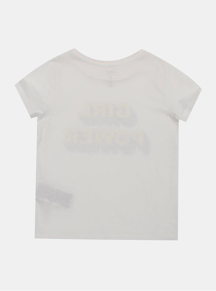 Biele dievčenské tričko name it