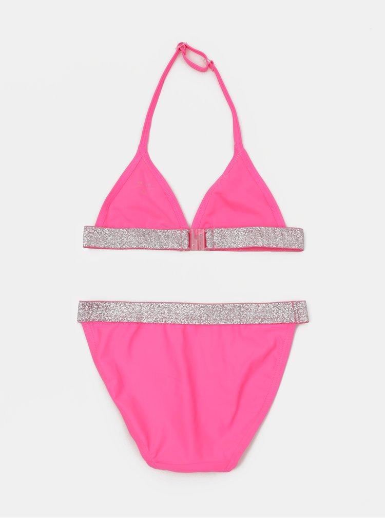 Růžové holčičí dvoudílné plavky name it