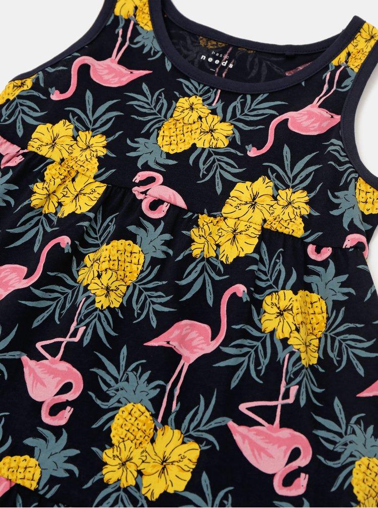 Tmavomodré dievčenské vzorované šaty name it