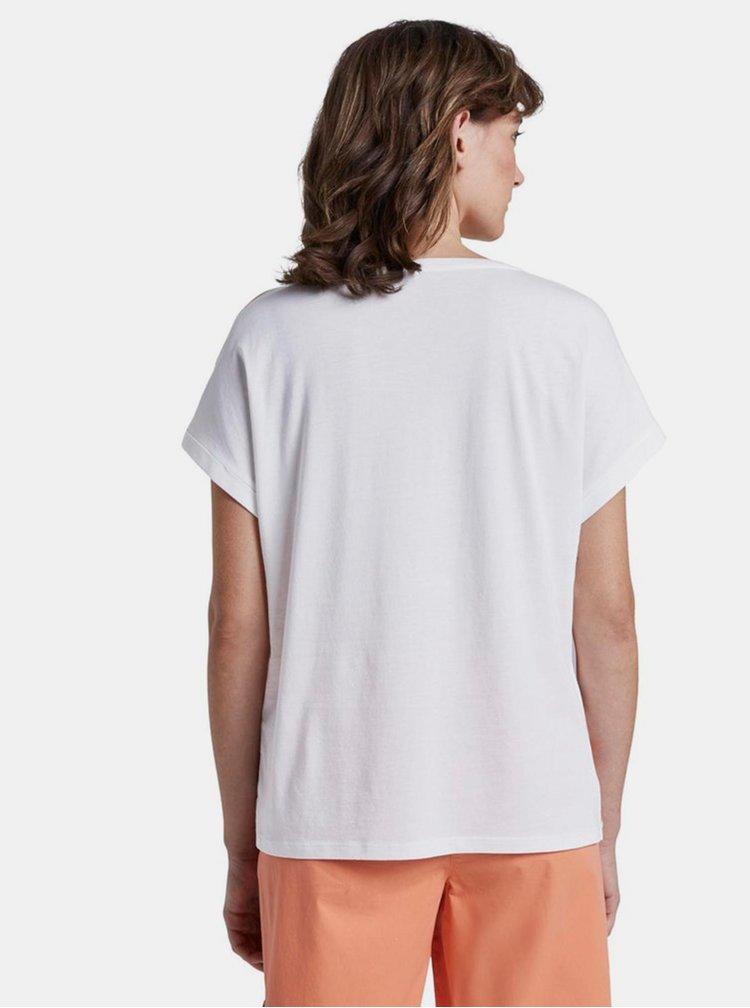 Tricouri pentru femei Tom Tailor - alb, galben