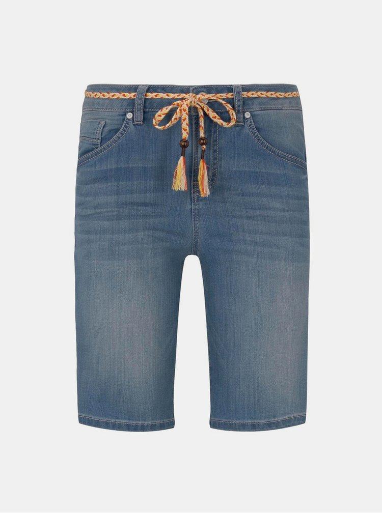 Modré dámské džínové kraťasy Tom Tailor
