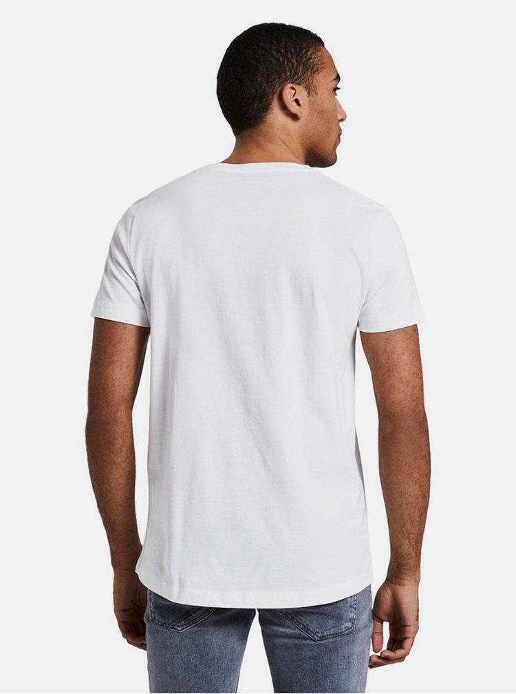 Tricouri pentru barbati Tom Tailor Denim - alb